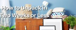 How to Unpack in Two Weeks or Less