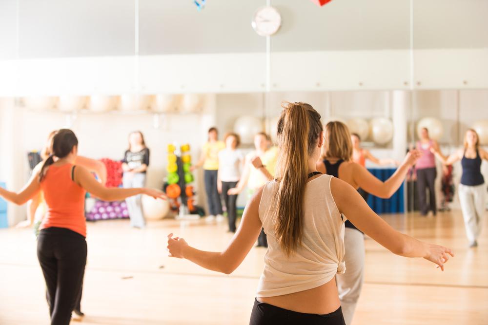 Women at a dance class.
