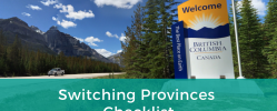 Switching Provinces Checklist