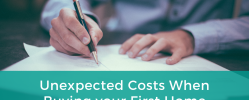 Unexpected Costs When Buying your First Home